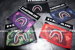 Wholesale COLOR CAMO SHARK purple red blue shark mask fashion face mask men women shark facemask black yellow street style