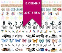 Wholesale Panda Papers - Wholesale- 2016 12Designs NEW Flowers Girls Bird Butterfly Panda Pattern Japanese Washi Decorative Adhesive DIY Masking Paper Tape Sticker
