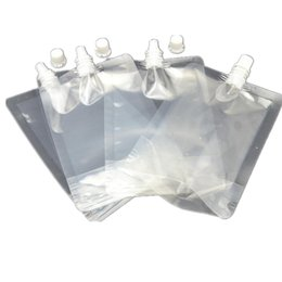 Wholesale Pack Milk - 250ml Stand-up Plastic Drink Packaging Bag Spout Pouch for Juice Milk Coffee Beverage Liquid Packing bag