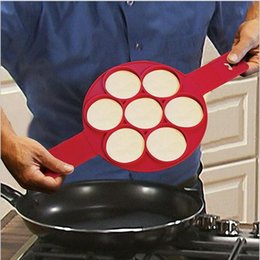 Wholesale Tools For Shaping Food - Silicone Perfect Pancakes Omelet Tools Flippin Fantastic Pancake Mould Round Easy Flip Grips Make 7 Shapes Food At Once For Kitchen