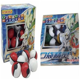 Wholesale Pokemon Collection Figures - 36pcs set Pokeball Small Mega Poke Ball Toys With Poke Figures and Poke Cards Great Brinquedos Gifts For Kids Collection free dhl shipping