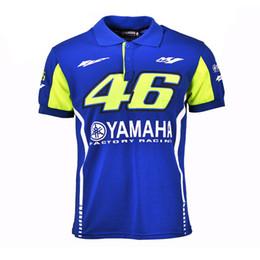 Wholesale Yamaha Blue Motorcycle - 2017 New Summer motorcycle Rossi VR46 Racing Blue MotoGP for Yamaha Polo Shirt Men's T-SHIRT