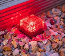 Wholesale Solar Ice Brick - Solar LED Ground Crystal Glass Ice Brick Shape White Outdoor Yard Garden Deck Road Lamp Light