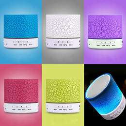 Wholesale Blutooth For Car - Wholesale- LED A9 Portable Mini Bluetooth Speakers Wireless USB Player Speaker With TF USB FM Blutooth Music For Car Mobile Phone iPhone 6