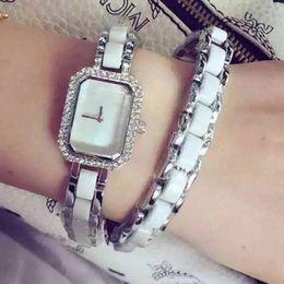 Wholesale Ceramic Clocks - New dress lady luxury women watches bracelet watch fashion clock Top Brand quartz watchwrist for women girl rejoles masculino