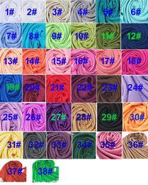 Wholesale Hot Fashion Items - hot item Pashmina Cashmere Silk Solid Shawl Wrap Unisex Long Range Scarf Women's Girls Ladies Scarf Pure 40 Color