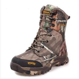 Jagdstiefel online-Camo Jagdstiefel Realtree AP Camouflage Winter Schnee Stiefel Wasserdicht, Outdoor Camo Boot Jagd Angeln Schuhe Größe 39-44
