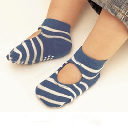Wholesale Socks Baby Rubber Soled - Baby Cute Anti-skid Room Socks Floral Dots Striped Solid color anti-drop rubber dots sole floor socks for baby boys girls 6M-3T