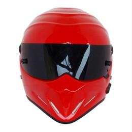Wholesale Full Face Motorcycle Helmet Dot - Top quality Full face Fiberglass SIMPSON Motorcycle Helmets The STIG Helmet Motorbike Kart Casco Capacete DOT approved Red