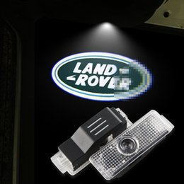 Wholesale Led Shadow Logo Lamp - LED Car Door Logo Light For LAND ROVER Range Rover Discovery 3&4 Freelander 2 Evoque Ghost Shadow Courtesy Laser Projector Lamp