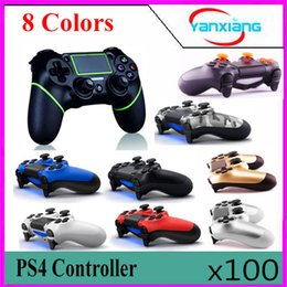 Joypad usb online-100pc Nuevo PS4 controlador inalámbrico gamepad joystick joypad para PS4 consola de juegos con cable de carga USB dos touchpad de vibración functioYX-PS4-11