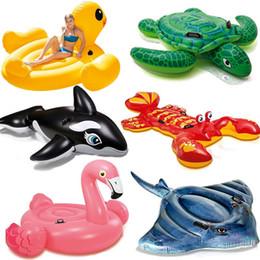 flotador de natación infantil Rebajas DHL / Fedex Los niños del verano Flotadores inflables Niños Ride-On Pool Swim Juguetes Inflables Agua Playa Natación Flotante Balsa Colchón de aire Aminal