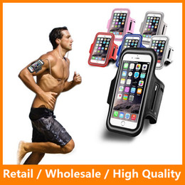 Wholesale Armband Cell Phone Covers - Sport Running Arm Band Leather Case for LG K7 HTC M9 Huawei P8 Lite Cell Phone Arm Bag Waterproof Pouch Holder Belt Cover