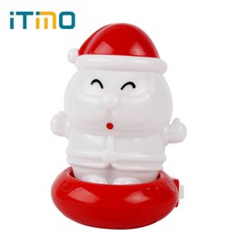 Wholesale Light Switches Wall Sockets - Wholesale- Wall Socket Lights Christmas Gift US Plug LED Night Light Decoration Supplies Santa Claus High Quality Lamp for Bedroom Home