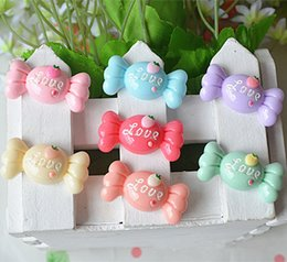 Wholesale Hair Bow Resin Flatback - 200pcs lot Resin candy style flatback Scrapbooking DIY for Hair Bow rope  headwear Crafts Frame Making Embellishments PD079