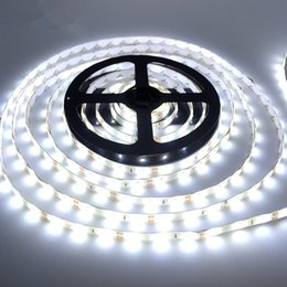Wholesale Led Strip Lights 12v Outdoor - 5M Bright White Flexible 3528 SMD Strip Light Water-proof 300 LED DC 12V Christmas Tree Lights Indoor Outdoor Decoration