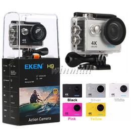 Wholesale Dvr Inch - Original EKEN H9 4K Action Camera Wifi waterproof Sport DV 1080P 60fps 170 degree Lens Underwater Video Camcorder DVR DV