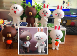 Wholesale Wholesale Kids Baking Sets - Minnie rabbit Brown bear Keychain bags pendant jewelry ornaments set baking cake decoration plug-in toy 2017 new style