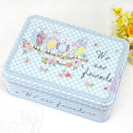 Wholesale Candy Metal Containers - Cartoon Pattern Desk Organizer,New Metal Storage Box Office Accessories Tin Box,Organizador Mac Cosmetic MakeUp Storage Container Kawaii Box