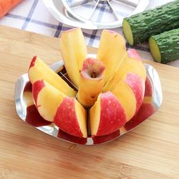 кусочки яблок Скидка Нержавеющая сталь яблоко slicer овощной фрукты яблоко груша резак Slicer обработки кухня нарезки ножи посуда инструмент