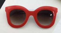 Wholesale Men S Fashion Polarized Sunglasses - 2017 Designer Women MARTA CL 41093 S red ivory dark brown shaded Sunglasses Brand New with box