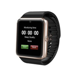 Wholesale Touch Mobile Watch Phone - Sport Bluetooth Touch Screen GT08 Smart Health Watch Support TF SIM Card With Camera Intelligent Mobile Phone Call Reminder Watch GT08