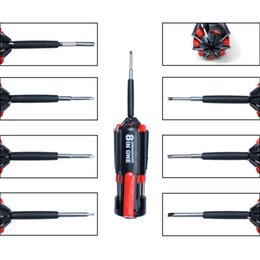 Wholesale flashlight sets - Multifunction Set Of Car Illuminating Screwdriver with Flashlight Hand Tool Safety Maintenance Tool Repair Kit Free Shipping
