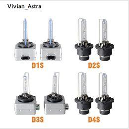 Wholesale Hid Xenon Lamp Bulbs - ASTRA Pair HID Bulb D1S D1R D1C D2S D2C D2R D3S D3R D4S D4R Xenon HID Lamp Globe Lights 35W 3000K 4300K 5000K 6000K 8000K 10000K 12000K
