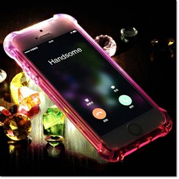 Wholesale High Corner - high quality TPU case balloon design for 4 corner with sealed buttons supply LED shine station for iphone 5 6 6 plus 7 7plus DHL free