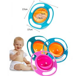 Wholesale New Toy Dishes - 3 Colors New Practical Design Children Kids Baby Toys Universal 360 Rotate Spill-Proof Bowl Dishes