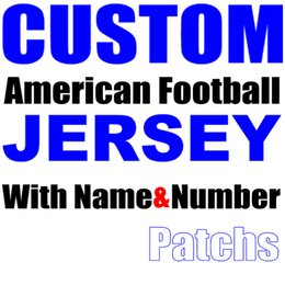 Wholesale Custom Team Clothing - Custom American Football Jersey With Name Patch Number Any Team Shirt Red Black White Blue Orange Clothes Souvenirs Need Help Pls Contact us