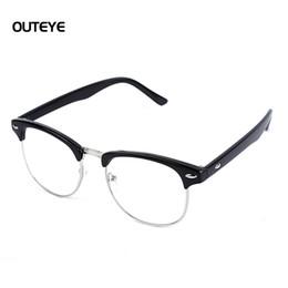 Wholesale Leopard Frame Glasses Optical - Wholesale- OUTEYE Optical Lens Eye Frame Eyeglasses Clear Lens Fashion Leopard Frame Glasses Men Women Eyewear Frames Oculos De Grau F1