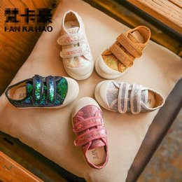 Wholesale wholesale cheap girl shoes - New sequin Children Casual Shoes Fashion Wholesale high quality Baby Girl Shoes Kids Sneakers Toddlers Shoes Kids Footwear cheap A1267