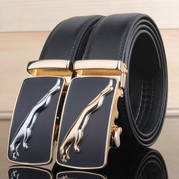 Wholesale Black Jaguars - Jaguar Automatic Buckle Men Waist For Women High End 130cm Fashion Luxury Leather Brand Designer Free Shipping, 005 Belt Handbag