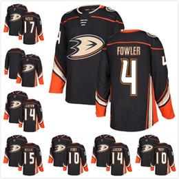 Wholesale mens blank hockey jerseys - 2017 2018-Mens Anaheim Ducks Ryan Getzlaf 4 Cam Fowler 17 Ryan Kesler 10 Corey Perry 14 Jacob Larsson Blank Ice Hockey Jerseys Stitched