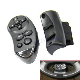 Wholesale Car Vcd Player - Wholesale- 1pc Car Universal Steering Wheel Remote Control Learning For Car CD DVD VCD