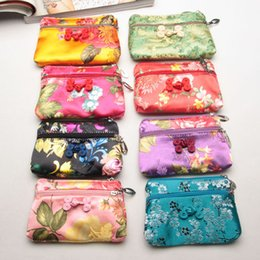 Wholesale Jewelry Gift Bags Brocade - Exquisite Handicraft China Knot Zipper Small Bags for Candy Silk Brocade Coin Purse Jewelry Gift Packaging ZA4673