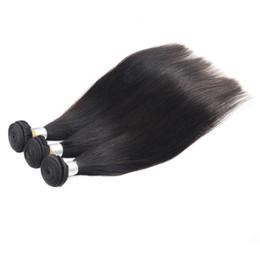 Wholesale Human Hair 26inch - Brazilian Virgin Hair Straight 4pcs Lot Natural Color 100% Human Hair Weaving 8-26inch Brazilian Straight Remy Virgin Hair