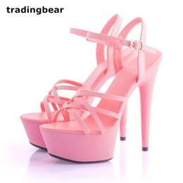 Wholesale stiletto heel size 43 - sexy women men shoes high heels runway show gladiator sandals 7 colors plus big size 34 to 40 41 42 43 44
