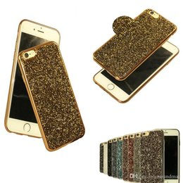 Wholesale Phone Jewel Cases - Rock Crystal Bling Jewel Diamond Rhinestone Glitter Back TPU Phone Case For iphone 7 6 6s plus 5 5S OPP BAG
