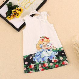 Wholesale New Dress Patterns For Kids - Bongawan Kids Dress for Girls 2017 New Spring&Summer Baby Girls Dress Snow White Pattern Pring Sleeveless Girls Clothes 2-8Y