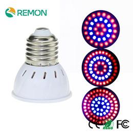 Wholesale E27 54 - Wholesale- E27 GU10 MR16 LED Grow Light With180 Degrees Flexible Lamp SMD2835 220V Full Spectrum Red+Blue For Desktop Plants 36 54 72LEDS