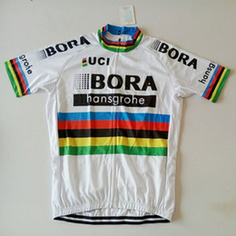 Wholesale Bicycle World - 2018 Bora World champion jersey breathable cycling jerseys Short sleeve summer quick dry cloth MTB Ropa Ciclismo Bicycle maillot GEL