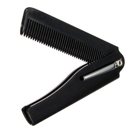 Wholesale Folding Clip - Wholesale- Hot Fashion Mens Womens Handmade Folding Pocket Clip Hair Moustache Beard Comb