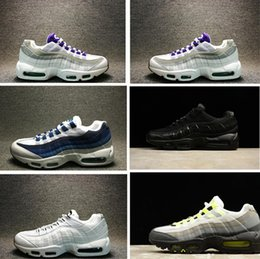 Wholesale Max Men Running Shoes - 2017 Wholesale Running Shoes Men women Cushion 95 Sneakers Boots Authentic Maxes 95 Walking Outdoor Sports Shoes Size Eur 36-46