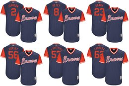 Wholesale Baseball Brother - Men's Atlanta Braves 2 Johnson 8 Petey 23 Danny 56 Hurshy 57 R Brothers 2017 Little League World Series Players Weekend