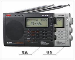 Wholesale High Band Radio - Wholesale-Tecsun PL-660 full-band digital tuning stereo clock-controlled charging Desheng Radio high quality new