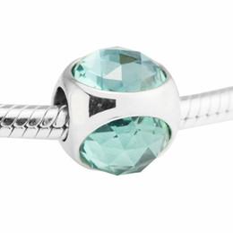 Charme vert pandora en argent sterling en Ligne-Icy Green perles charms cristal argent 925 convient pour pandora Bijoux bracelets S925 argent livraison gratuite H7 Icy Green Radiant Droplet