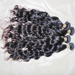 Deutschland 4pcs / lot 8A Indian Raw reines Haar Wasser Wellenförmige natürliche schwarze Farbe 100% Menschen Weave Bundles 10-28 Zoll GROSSER Verkauf Versorgung