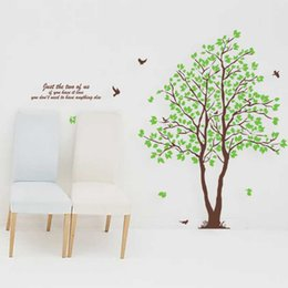 Wholesale Large Green Tree Wall Stickers - Hot sale Green Lover Trees Wall Sticker Mural Decor Sitting Dinning Room Bedroom TV background Decal